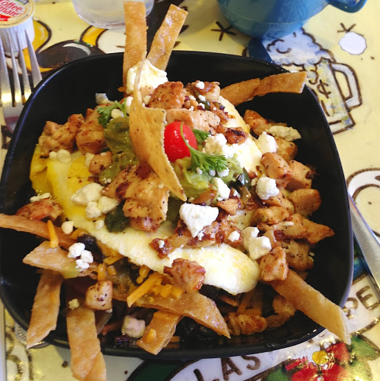Goat cheese chilaquiles