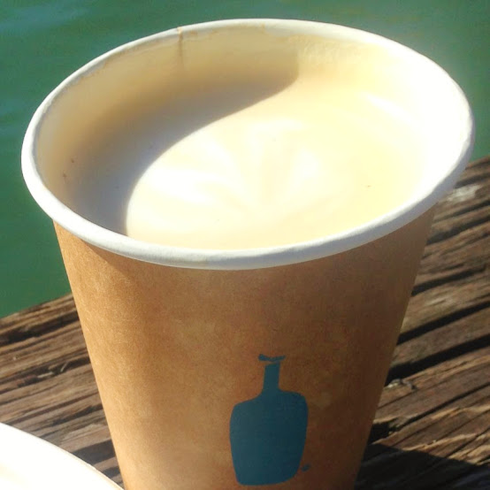 Can't leave the Ferry Building without Blue Bottle coffee