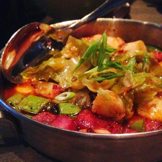 Grilled octopus and housemade spam, Bottlefork