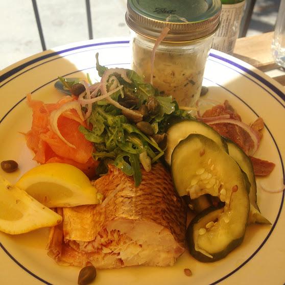 Smoked fish plate, Duke's Grocery