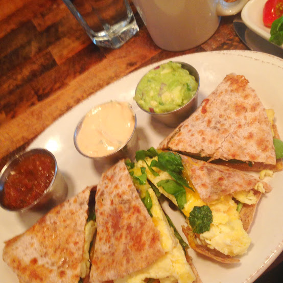 Breakfast quesadilla, French Meadow Bakery & Cafe
