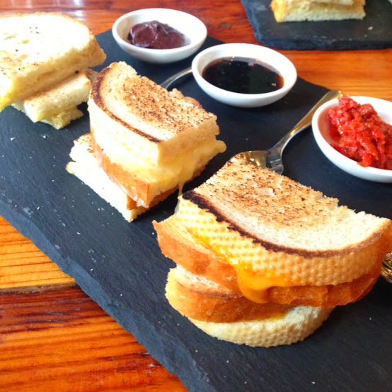 Grilled cheese flight