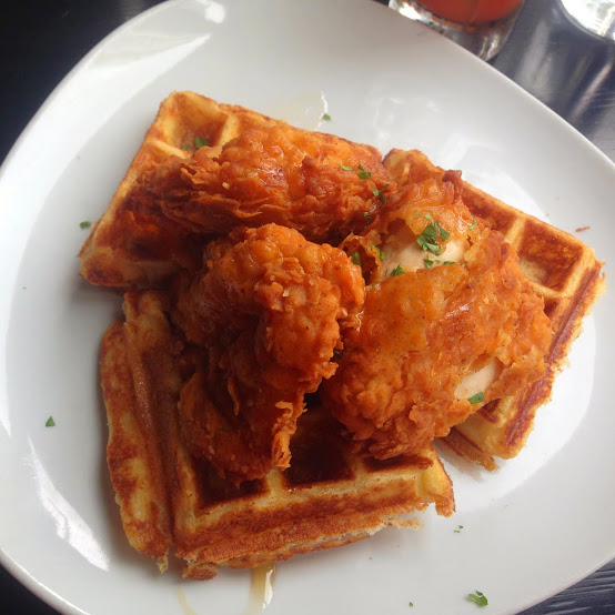 Fried chicken and waffles, GT Fish & Oyster