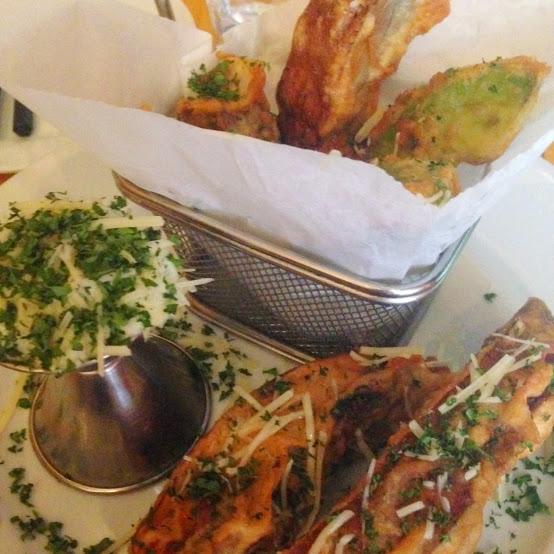 Portobello & avocado tempura, Oiistar