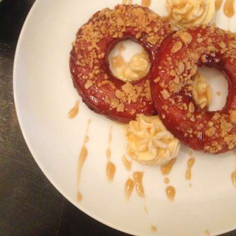 Salted butterscotch croissant-style donut, Knife & Tine
