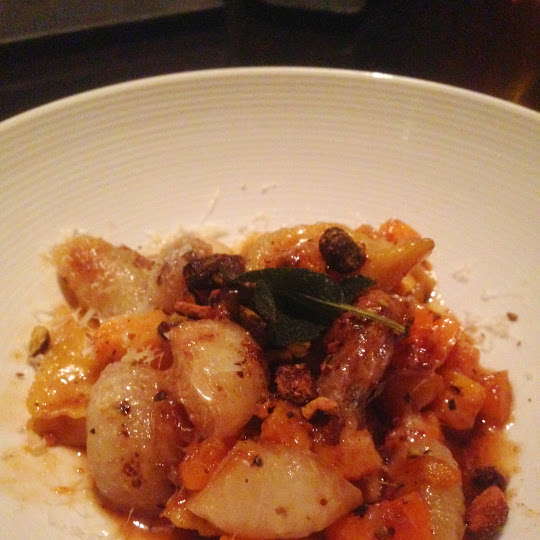 Roasted squash agnolotti, The Bedford