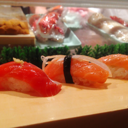 Salmon omakase, Shiro's Sushi