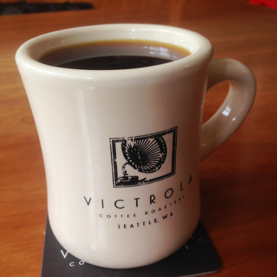 Sumatra pourover coffee, Victrola Coffee