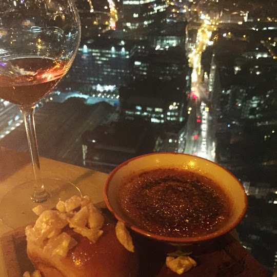 Duck and Waffle foie gras creme brulee