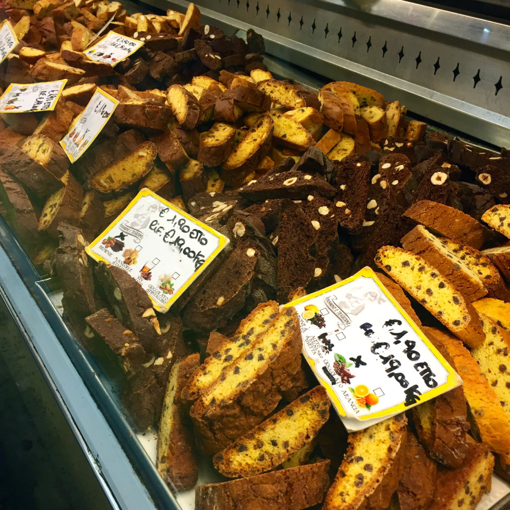 An array of biscotti from Cantucci at Mercato Centrale