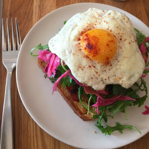 Fried egg toast, Same Day Cafe