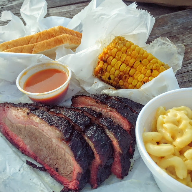 Brisket plate, Brown's Bar-B-Que