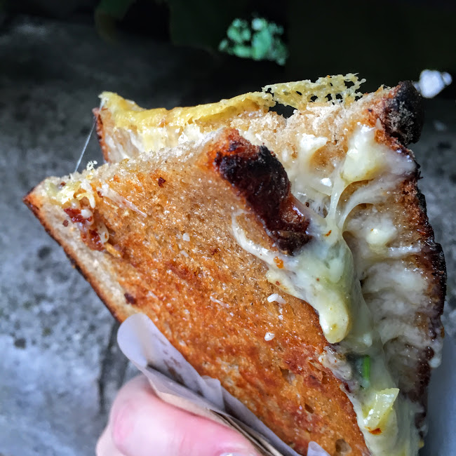 Grilled cheese (with 4+ different cheeses), Borough Market