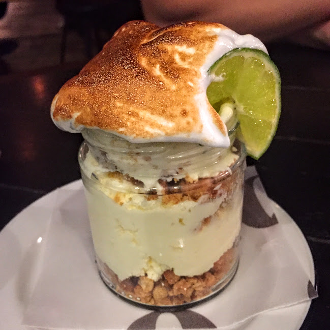 Key lime pie jar, Q Grill