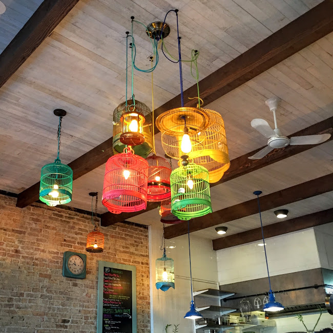 Birdcage lighting, The Bakery at Fat Rice