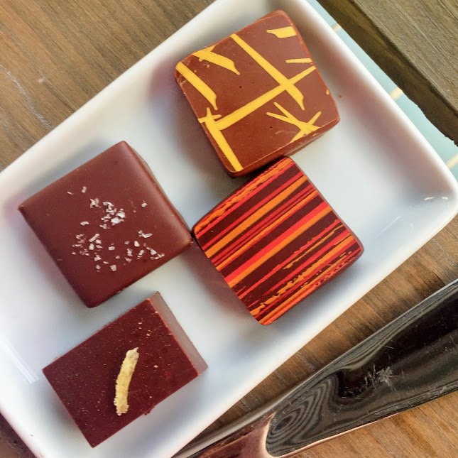 Sea salt, ginger, banana, and chile caramels, Belize Chocolate Company