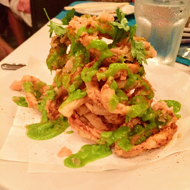 Spiced calamari, Blue Water Grill
