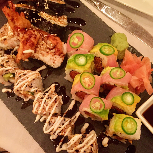 Sushi rolls, Blue Water Grill