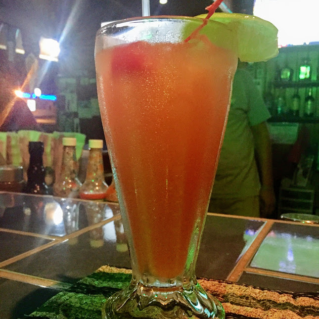 Rum punch, Carlo & Ernie's Runway Bar