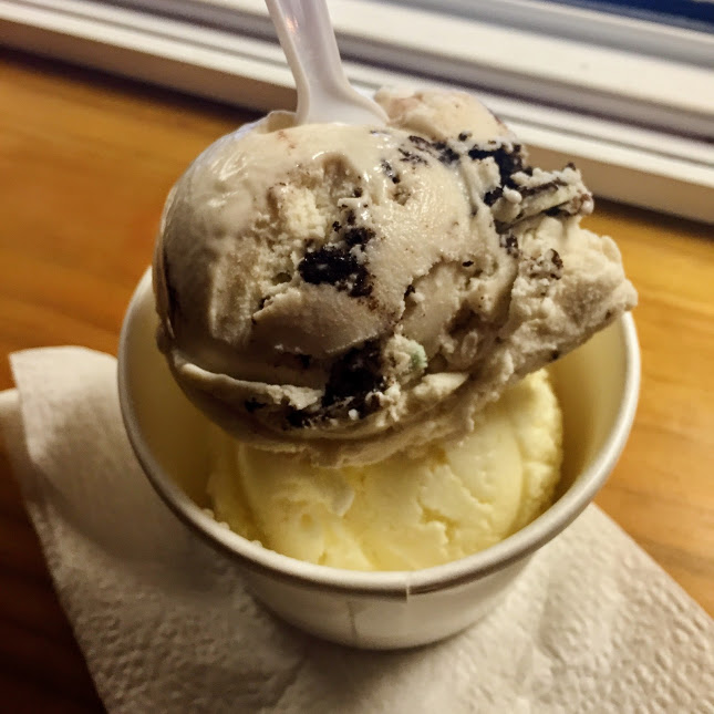 Pina colada and Oreo ice cream, The Truck Stop