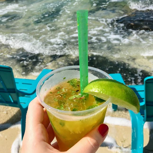 Mango mojito, Aurora's Grill at Secret Beach