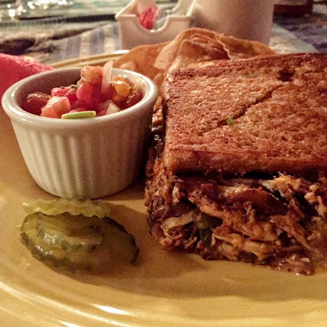 Madras curry chicken melt sandwich, Melt Cafe and Beach Bar