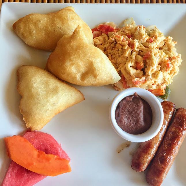 Belizean breakfast, Portofino Restaurant