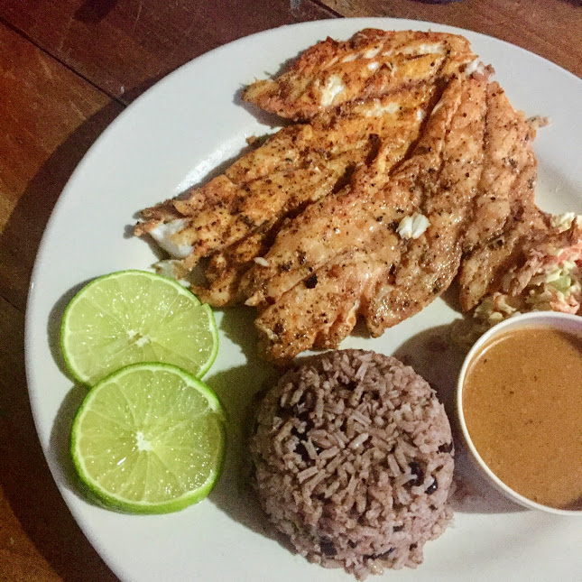 Snapper with rice and beans, Robin's Kitchen