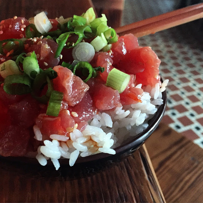 Ahi tuna poké rice bowl, Furious Spoon
