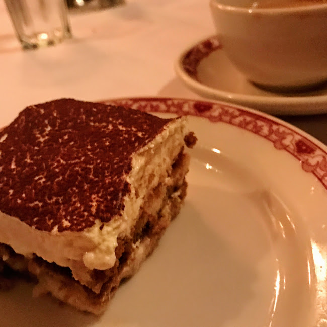 Tiramisu and coffee, Gene & Georgetti