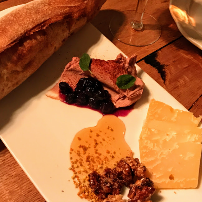Duck liver mousse and gouda, Table, Donkey & Stick