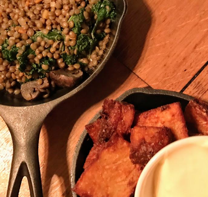 Lentils and latkes, Table, Donkey & Stick