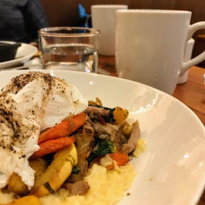 Duck confit and vegetable hash, Appellation