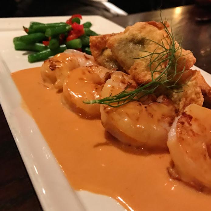 Sauteed shrimp, de Quay