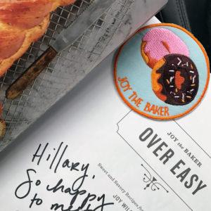 Over Easy cookbook signed by Joy