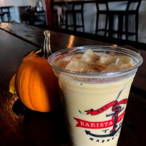 Iced bourbon vanilla latte, Barista Parlor