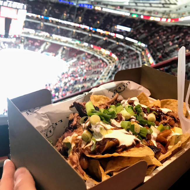 Pulled pork nachos, Lillie's Q at United Center