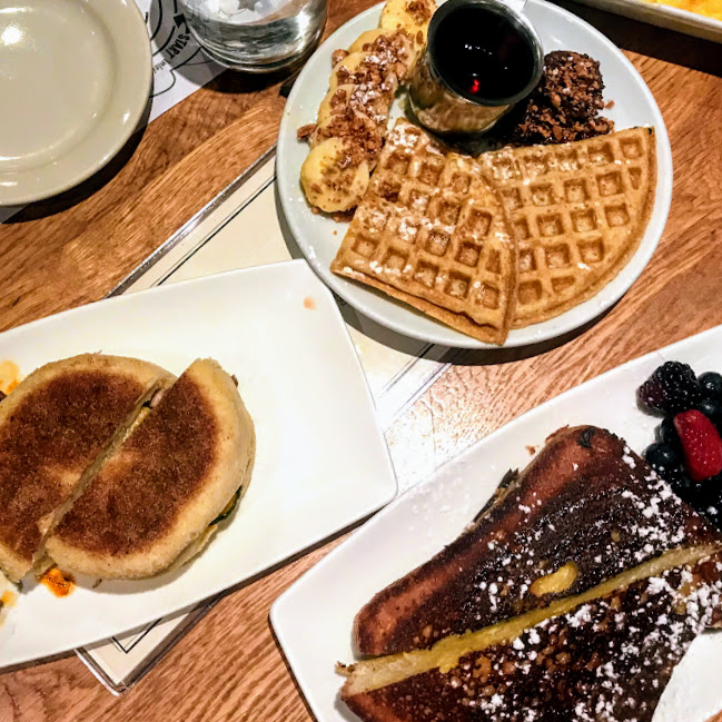 Cubano bocadillo, buttermilk waffle, and citrus French toast, Cafe Ba-Ba-Reeba!