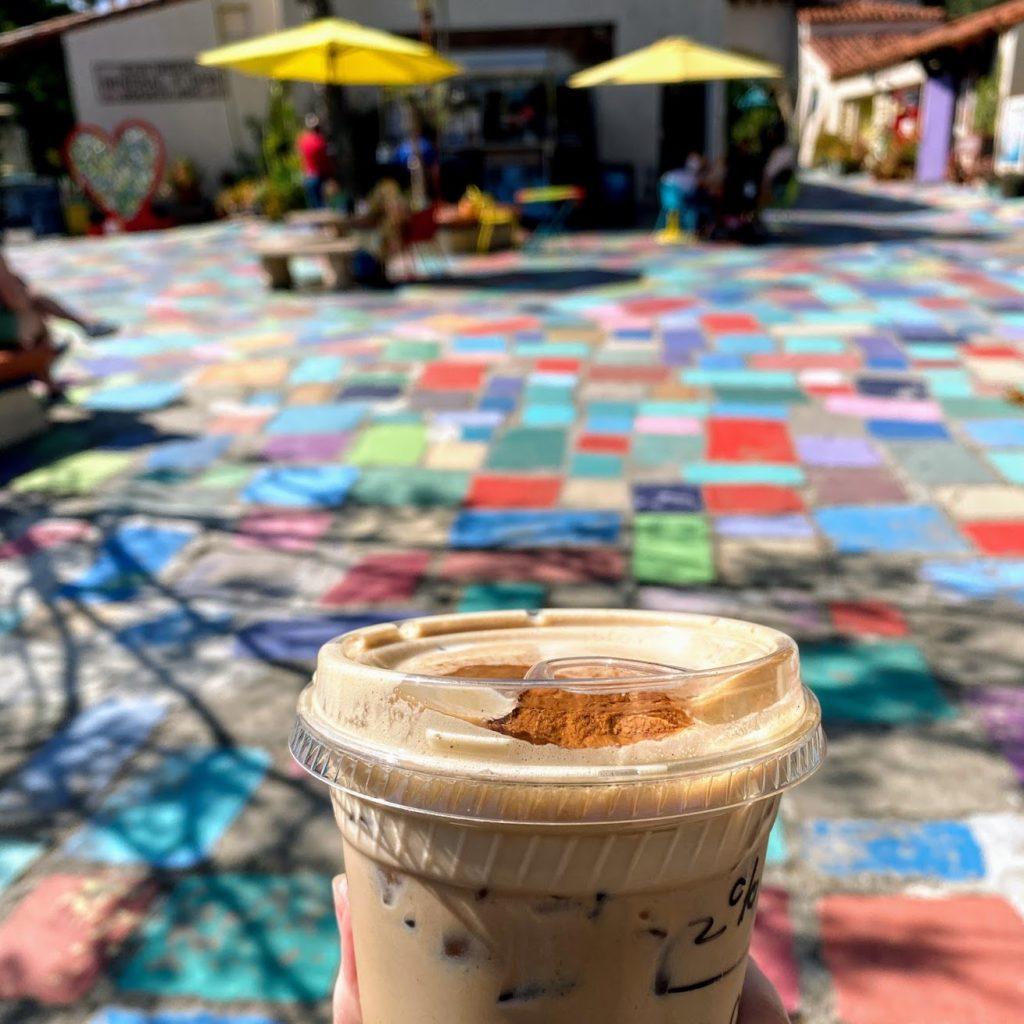 Iced dirty chai, Daniel's Coffee