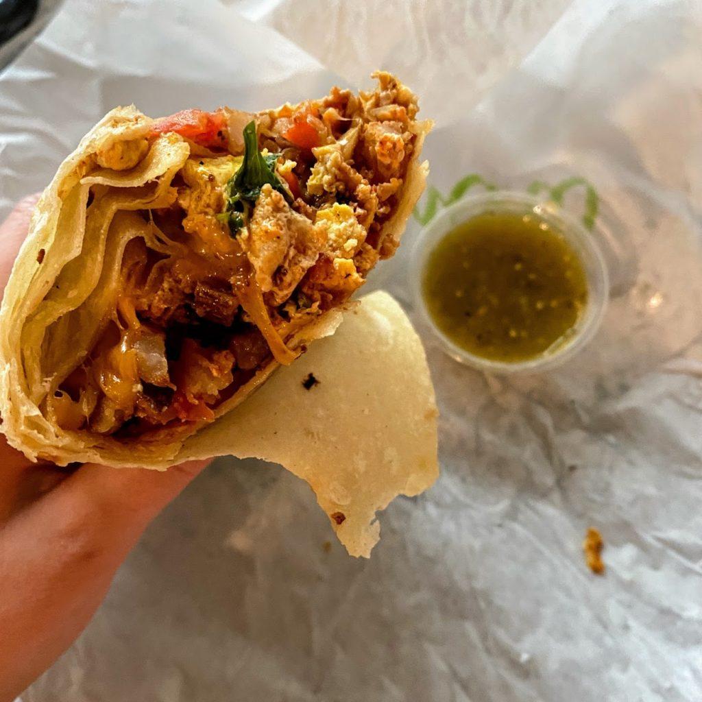 Rancho breakfast burrito, Lucy's Taco Shop