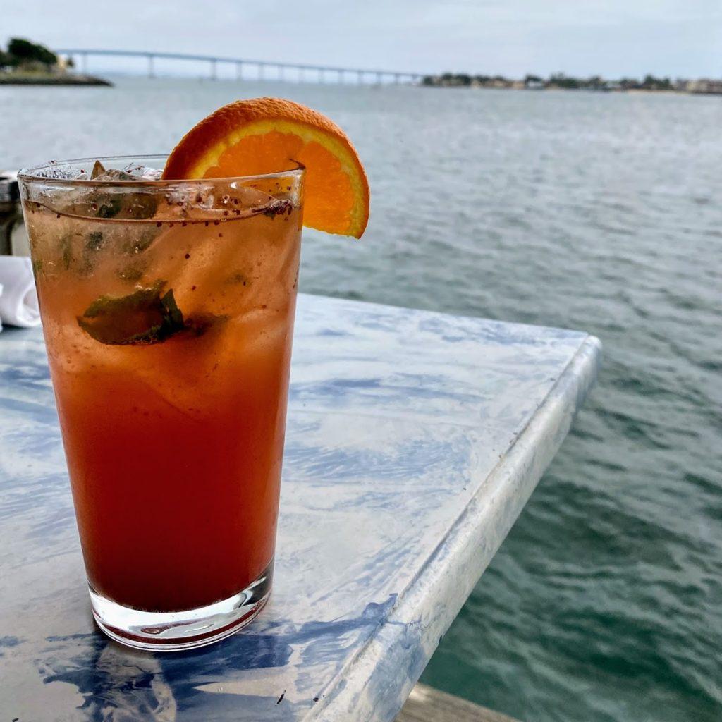 Strawberry Bay Breeze cocktail, Pier Cafe