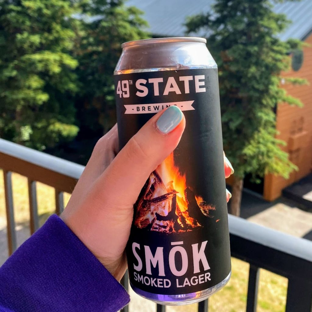 49th State Smōk lager on the balcony