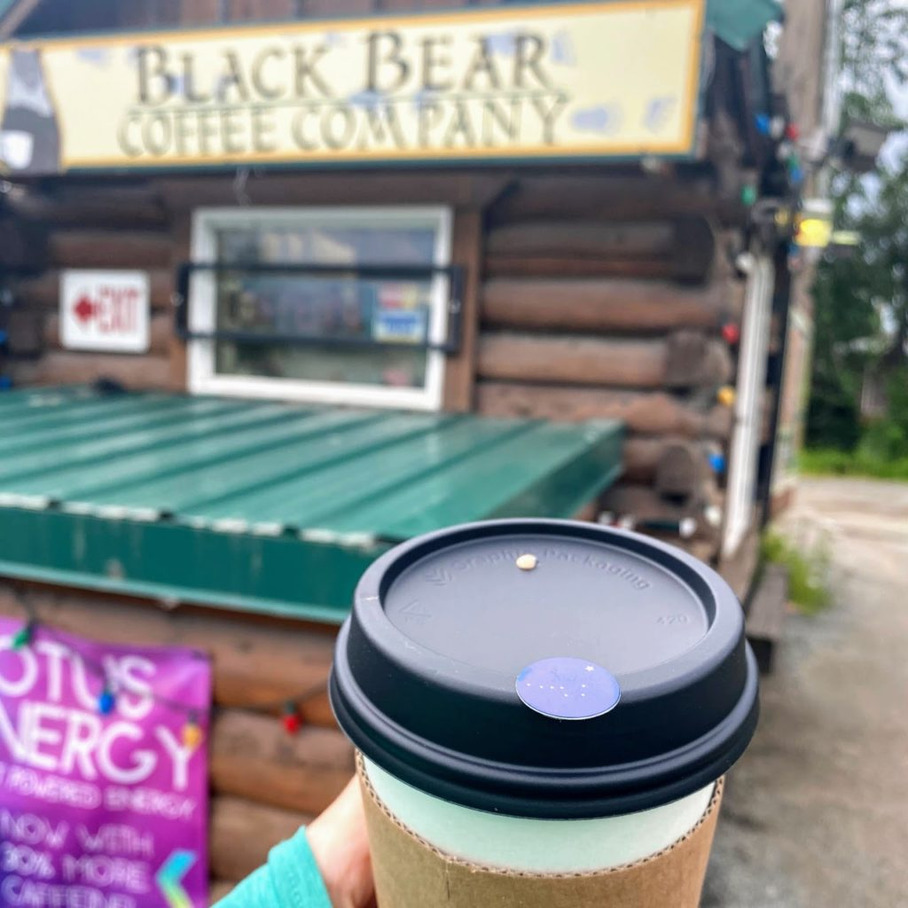 Coconut milk chocolate mocha, Black Bear Coffee Company