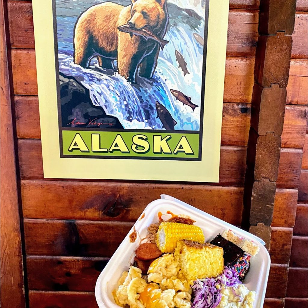 4th of July buffet lunch at Brooks Lodge, Katmai National Park