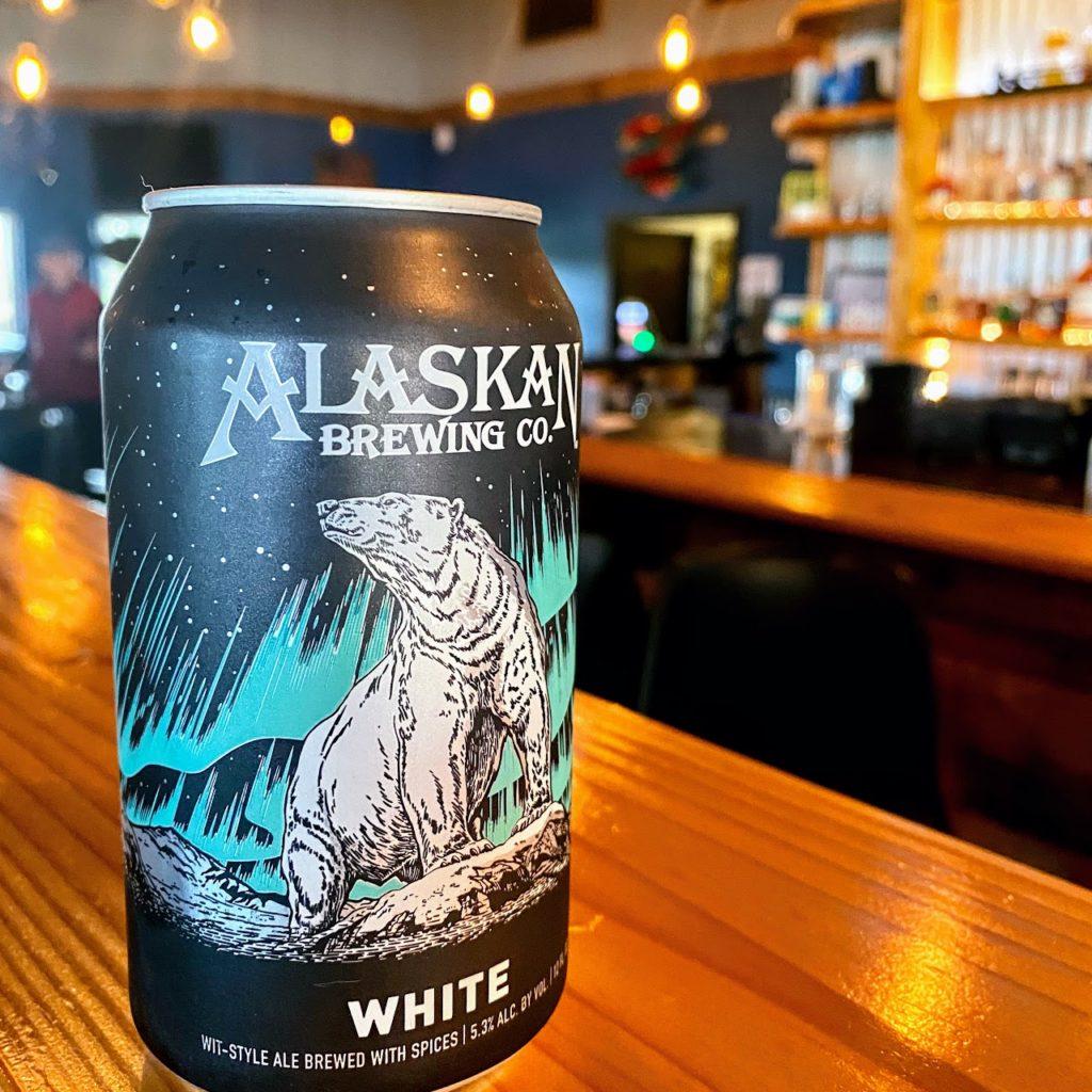 Alaskan White beer at Sockeye Saloon